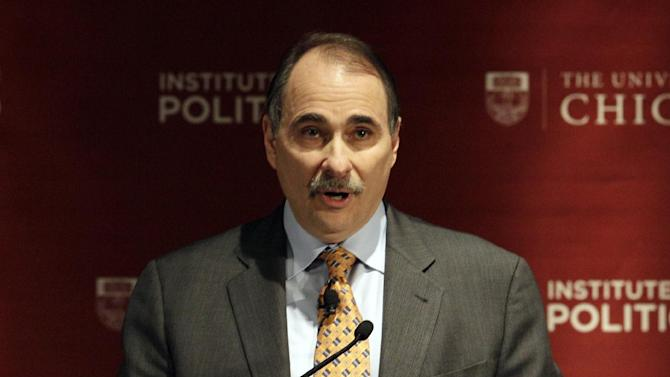 "FILE - This Jan. 19, 2012 file photo shows David Axelrod, former senior advisor to President Barack Obama, speaking during a panel discussion, ""2012: The Path to the Presidency"", at the University of Chicago in Chicago. Axelrod has landed a new job at NBC News. The network said Tuesday, Feb. 19, 2013, that Axelrod is joining as a senior political analyst. He'll contribute to broadcasts on both NBC News and the cable network MSNBC. (AP Photo/Nam Y. Huh, file)"