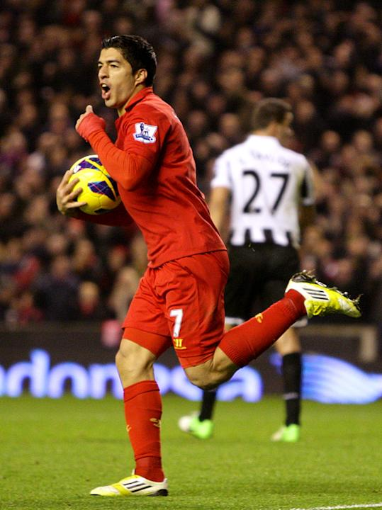 Striker Luis Suarez is loving life at Liverpool
