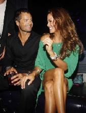 Newlyweds David Charvet and Brooke Burke are all smiles at the Dylan George and Abbot + Main Spring 2012 Launch and the official PROJECT after party at Chateau Nightclub & Gardens at Paris Las Vegas on August 23, 2011 -- WireImage