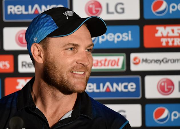 New Zealand captain Brendon McCullum answers questions at a press conference following his teams seven wicket loss to Australia in the Cricket World Cup final in Melbourne, Australia, Sunday, March 29