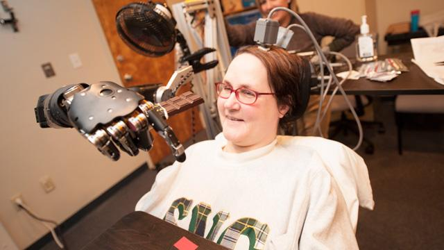 Paralyzed Mom Controls Robotic Arm Using Her Thoughts