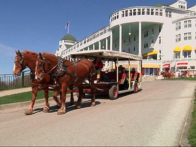 Horses Come Back to Mackinac in Rite of Spring