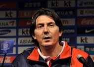 Goran Tufegdzic, Kuwait's national squad coach pictured in February, is in critical condition after being shot at in a dispute with his neighbour in eastern Serbia, a daily newspaper reports