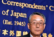 Japan's Nuclear Regulation Authority chairman Shunichi Tanaka pictured at a press conference at the Foreign Correspondents' Club in Tokyo on September 2, 2013. Tanaka said Monday that contaminated water from the ruined Fukushima nuclear plant must be released into the ocean eventually, warning the plant remains fragile with many risks