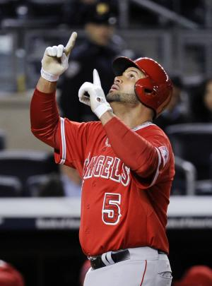 Pujols, Angels rough up Yankees 13-1