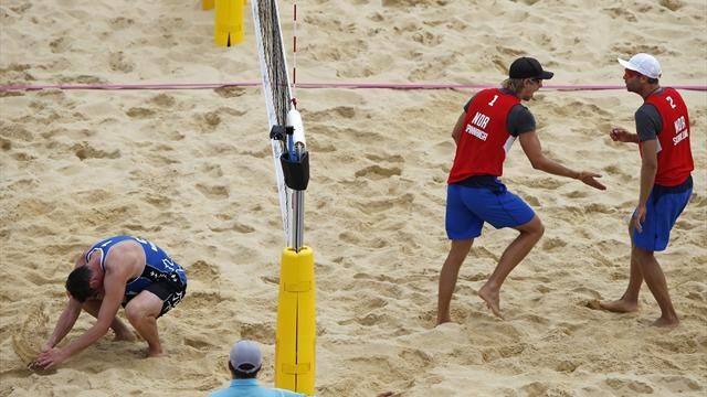 Norway beat Canada in Olympic beach volleyball