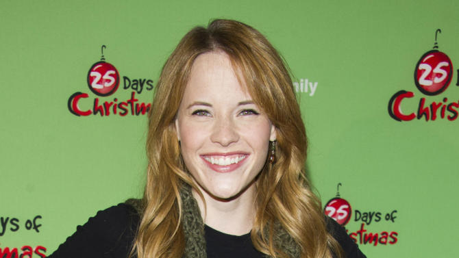 """FILE - This Dec. 4, 2011 file photo shows actress Katie Leclerc attends ABC Family's """"25 Days of Christmas"""" Winter Wonderland party at Rockefeller Center in New York. Leclerc stars as a deaf teen on the ABC Family drama, """"Switched at Birth."""" (AP Photo/Charles Sykes, file)"""