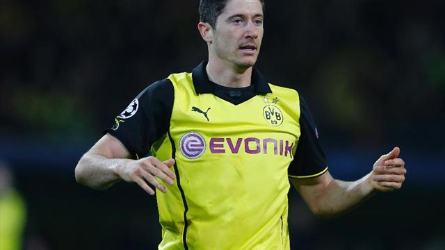 Champions League - Don't expect four goals again, says Dortmund's Lewandowski