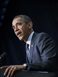 US President Barack Obama, pictured on the White House campus in Washington, DC, on February 19, 2013. Japan's new conservative Prime Minister Shinzo Abe heads on Friday to the White House, where he hopes to show a firm, unified line to influence an assertive China and a defiant North Korea.