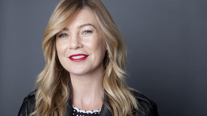 """Best known for playing the lead role, Meredith Grey, in the ABC Network drama series, """"Grey's Anatomy,"""" American actress Ellen Pompeo poses for a portrait in celebration of the upcoming 200th episode, on Monday, Sept. 23, 2013, in New York. The tenth season premieres on Thursday. (Photo by Amy Sussman/Invision/AP)"""