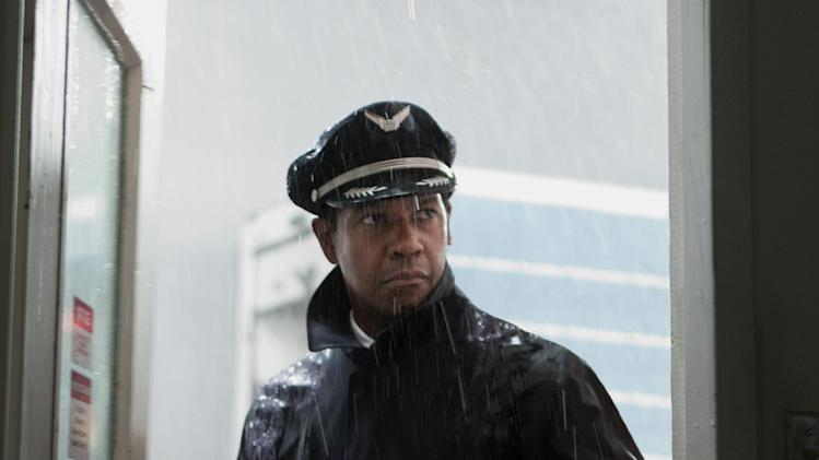 "FILE - This film image released by Paramount Pictures shows Denzel Washington portraying Whip Whitaker in a scene from ""Flight."" ""Flight,"" ""Django Unchained,"" ""Beasts of the Southern Wild,"" ""Red Tails"" and ""Tyler Perry's Good Deeds"" are up for the outstanding motion picture trophy at the 44th annual NAACP Image Awards. (AP Photo/Paramount Pictures, Robert Zuckerman, File)"