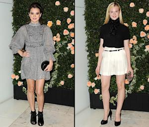 Hailee Steinfeld, 14, and Elle Fanning, 13, Party in Chanel Outfits