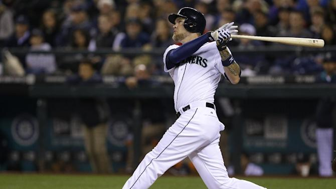 Hart hits 2 homers, Mariners beat Angels 5-3