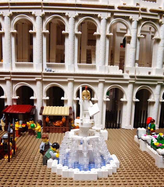 Lego Colosseum  Certified Lego builder Ryan McNaught has created the world's first Lego Colosseum. Using 200,000 Lego bricks, the model is presented in cross-section with half in its present day ruine