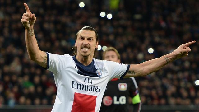 Champions League - Ibrahimovic double helps PSG thrash Leverkusen