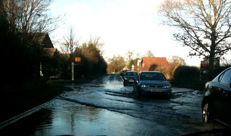 Our village was almost cut off with all roads flooded. © Aurora James