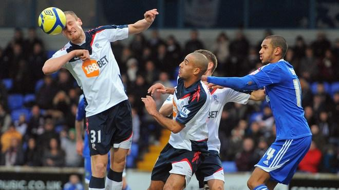 Bolton Wanderers' English Defender David Wheater (L) Clears AFP/Getty Images