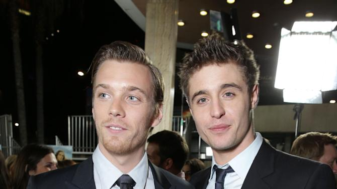 Jake Abel and Max Irons at Open Road Films Los Angeles Premiere of 'The Host' held at the ArcLight Hollywood, on Tuesday, March, 19, 2013 in Los Angeles. (Photo by Eric Charbonneau/Invision for Open Road Films/AP Images)