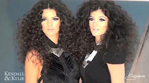 Kendall and Kylie Jenner Sport Crazy Hair, Heavy Makeup in Glam Shoot