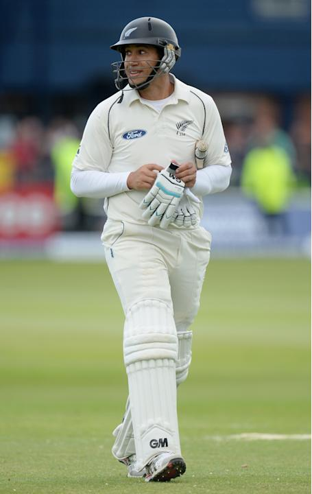 CRIC: New Zealand's Ross Taylor leaves the field after being dismissed