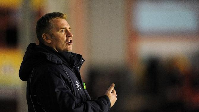 Dean Smith was impressed with Walsall's defensive display