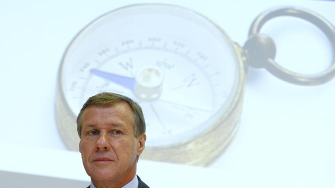 Zurich Insurance Chief Executive Senn attends the company's annual news conference in Zurich