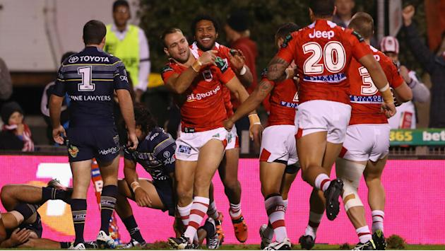Dragons edge out under-strength Cowboys