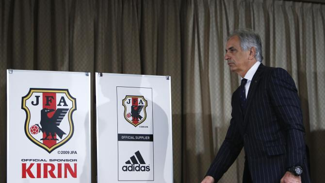 Franco-Bosnian Vahid Halilhodzic, Japan's new national soccer team coach, makes an appearance before the media at a news conference in Tokyo