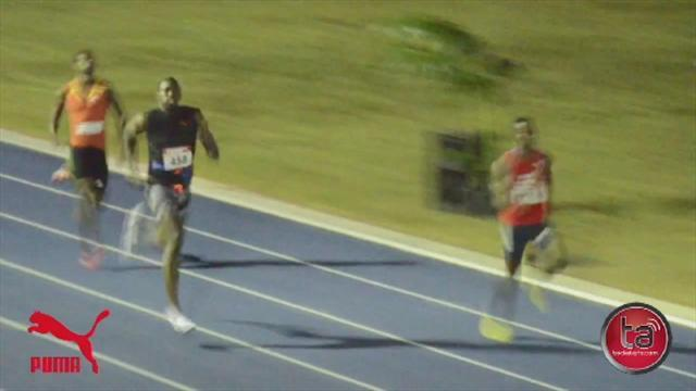 Athletics - Usain Bolt tries his luck in 400m race