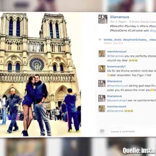 Liliana in Hotpants in Notre Dame
