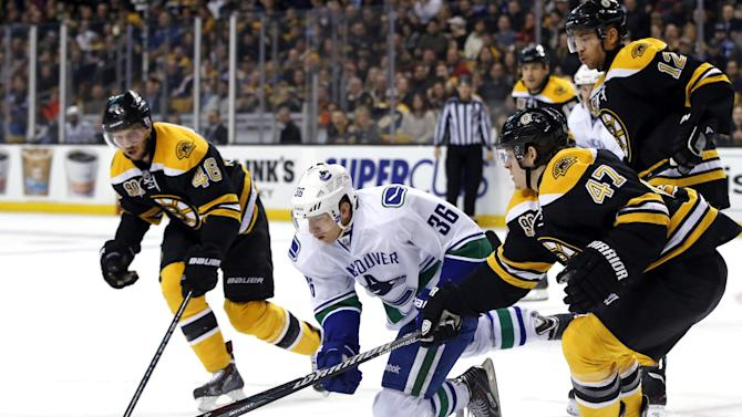 Iginla, Lucic lead Bruins to 3-1 win over Canucks