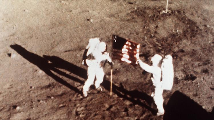 In this July 20, 1969, file photo, provided by NASA, Apollo 11 astronauts Neil Armstrong and Edwin E.