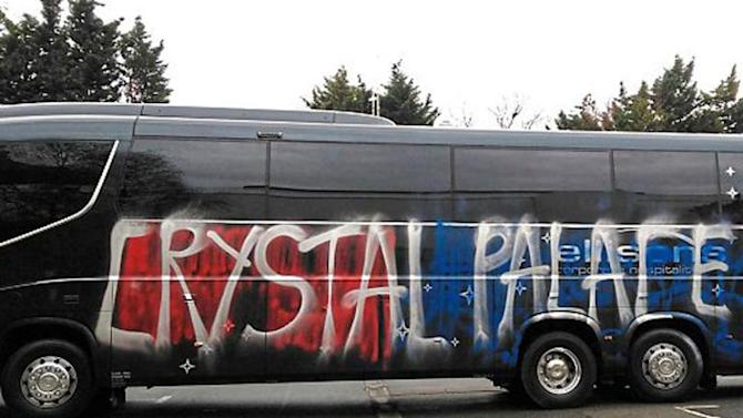 Crystal Palace fans cause '£40,000 of damage' to their own team coach after mistaking it for Middlesbrough's