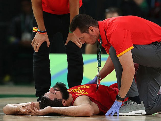 Mirotic averaged 11.8 points and 5.6 rebounds in eight Olympic games. (Getty Images)