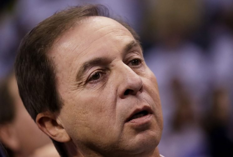 Joe Lacob is not excited. (Ronald Martinez/ Getty Images)
