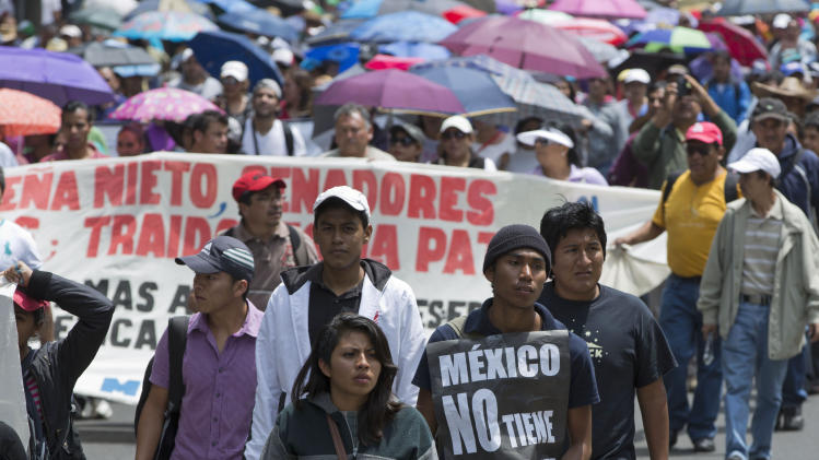 Mexico Protest Paralysis