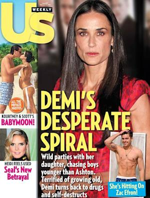 """Desperate"" Demi Moore ""Tracked Down"" Zac Efron"