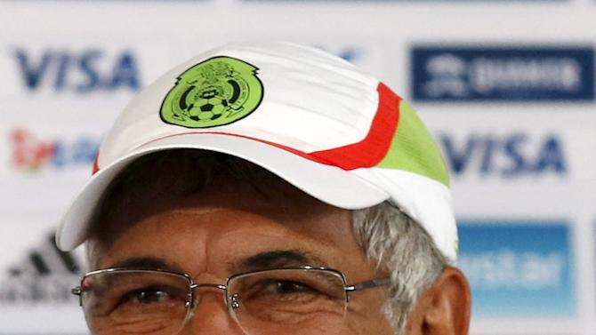 Mexico's national soccer team coach Ricardo Ferreti smiles during a news conference in Mexico City