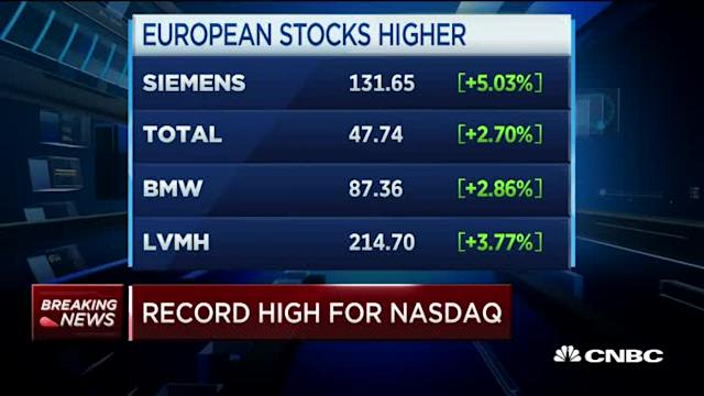 Market opens strong after French election