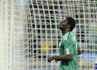 Nigerian goal poacher Obafemi Martins, pictured in 2010, is proving an instant success at Spanish La Liga outfit Levante, scoring his second winner in as many home matches at the weekend