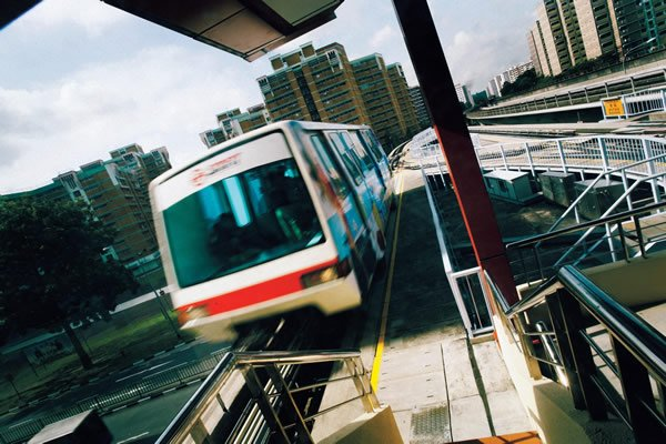 About 1,420 commuters were affected by a LRT service disruption on Tuesday morning. (SMRT Photo)