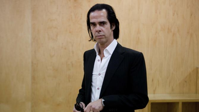 Australian musician and screenwriter Nick Cave poses for a photo during a photo call to promote his new album, 'Push the Sky Away,' in Mexico City,  Monday, Feb. 18, 2013. Cave is scheduled to give two concert performances in Mexico City. (AP Photo/Eduardo Verdugo)