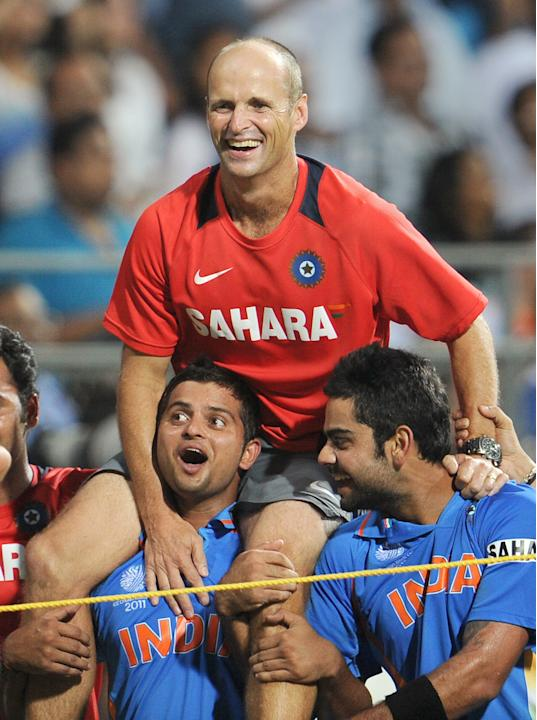 Indian cricket coach Gary Kirsten is car