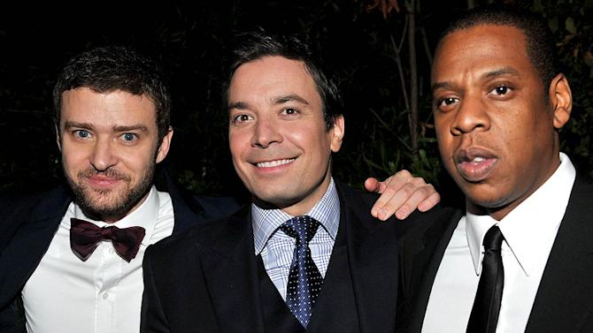 Timberlake Fallon JayZ GQ Man Of The Year