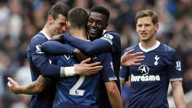 Premier League - Adebayor scores crucial late winner for Spurs