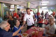 DAP's Ramkarpal Singh greets voters at the Taman Tun Sardon food court in Penang, May 24, 2014. — Picture by K.E. Ooi