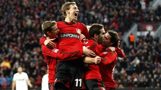 German Bundesliga  - Ten-man Leverkusen beat Fortuna