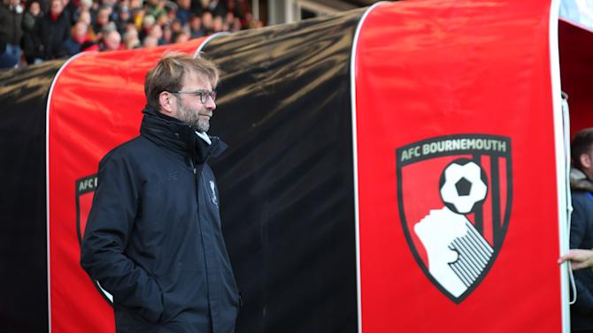 Liverpool manager Juergen Klopp before the match