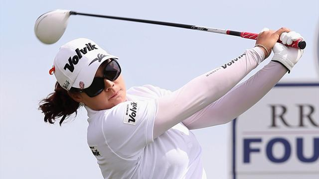 Golf - Lee takes Founders Cup lead