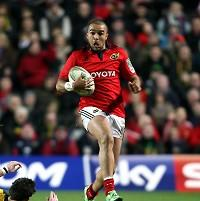 Munster's Simon Zebo crossed for a try in his side's win over the Dragons